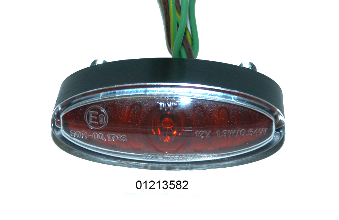 "01213582 LUCETTA STOP LED ""E"" L.53 H.20 P.22mm"