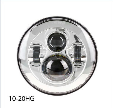 10-20HG LED HEADLAMP UNIT CHROME 7""