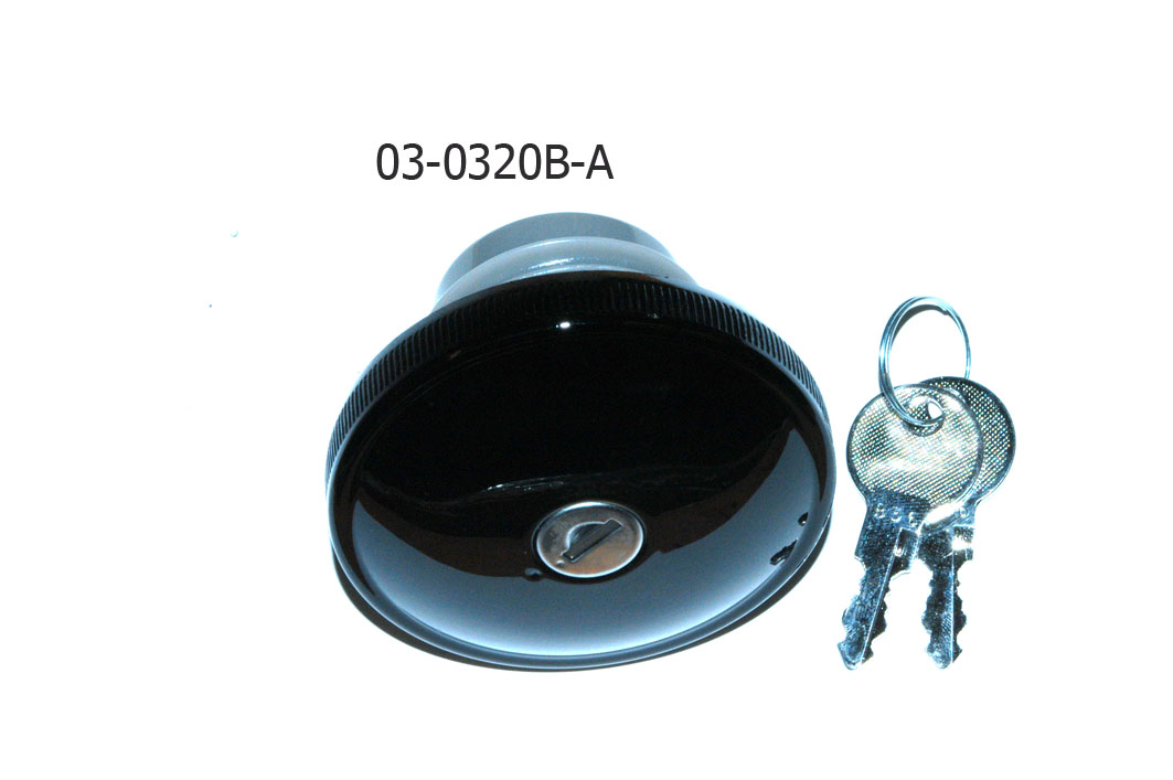 03-0320B-A GAS CAP BLACK WITH KEY RIGHT