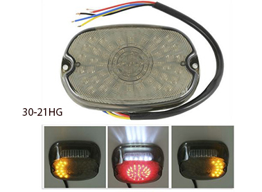 30-21HG LED Smoke Tail Brake Light Turn Signal Lamp For Harley S